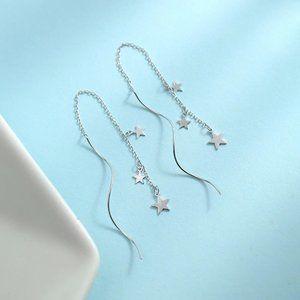 NEW 925 Sterling Silver Swirl Star Earrings